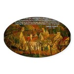 Artist Pissarro: How to Paint Oval Sticker
