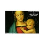Raphael Madonna Painting Rectangle Magnet (100 pac
