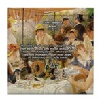 Renoir Quote and Landscape Tile Coaster