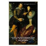 Rubens Self Portrait & Quote Large Poster