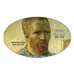 Vincent Van Gogh Quote Oval Sticker