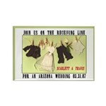 Receiving Line Save Date Rectangle Magnet (100 pac