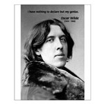 Playwright Oscar Wilde Small Poster